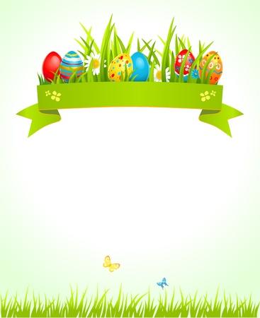 invitacion fiesta: Fondo de Pascua festiva con espacio para el texto Vectores