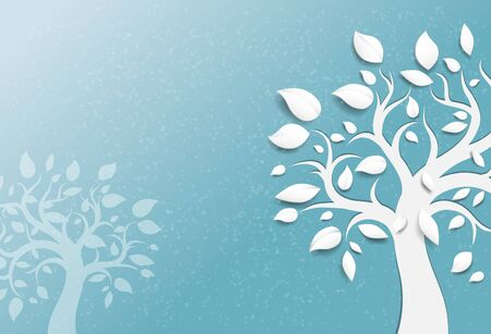stylized design: Abstract trees background