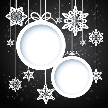 Black and white winter design with snowflakes Stock Vector - 18705024