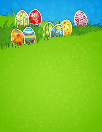 Easter egg in grass Stock Vector - 18705366