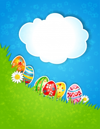 Easter spring background with  space for text Stock Vector - 18705365