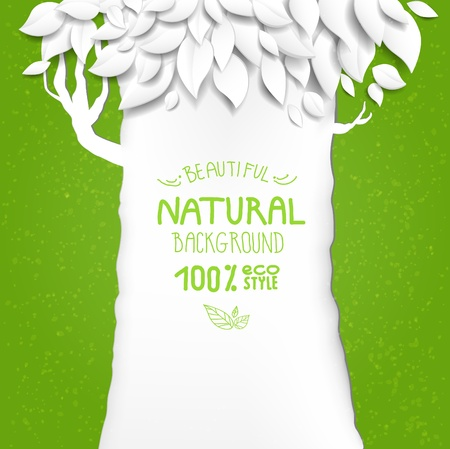 Natural background with tree with  space for text Stock Vector - 18705362