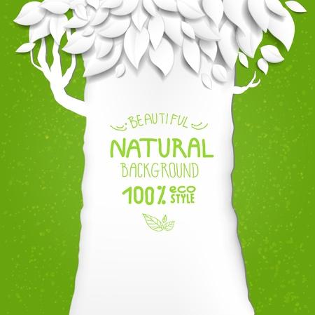 zomertuin: Natuurlijke achtergrond met boom met ruimte voor tekst
