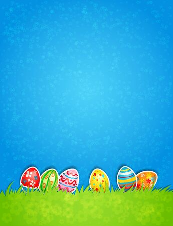 Easter egg and blue sky Stock Vector - 18705367