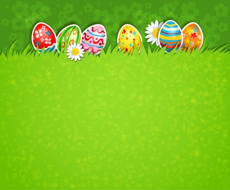 Easter green background with  space for text Stock Vector - 18705364