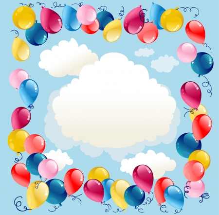 Balloons background with space for text   Stock Vector - 20544507