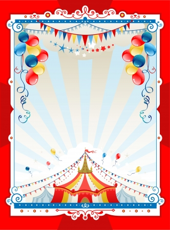 marquee tent: Bright circus frame with space for text