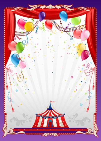 Circus background with balloons with space for text   Vector