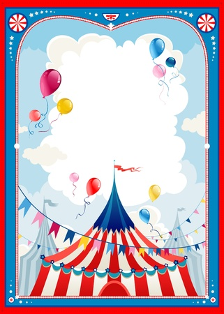 Circus frame with space for text   Stock Vector - 20544543
