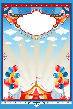 テキスト用のスペースとサーカスのテントの背景