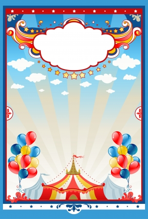 revue: Circus tent background with space for text