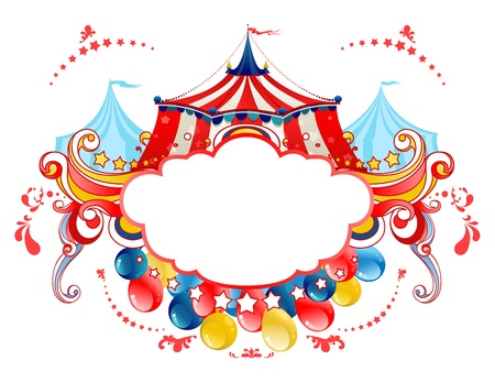 carnaval: Circus tentframe Stock Illustratie