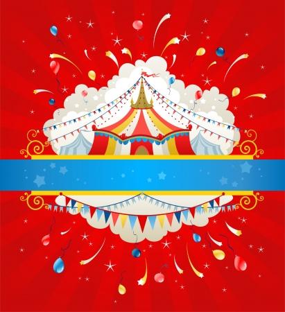 祭: テキスト用のスペースとサーカスの背景  イラスト・ベクター素材