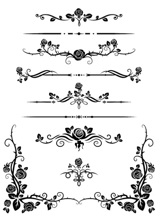 Decorative elements Ilustracja
