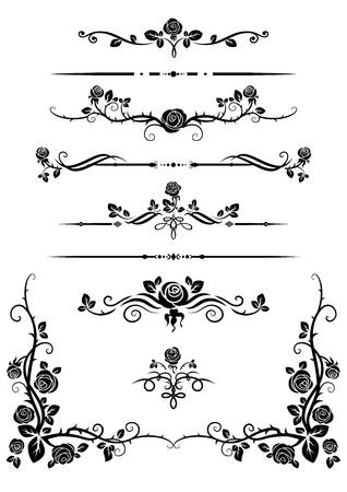 corner border: Decorative elements Illustration