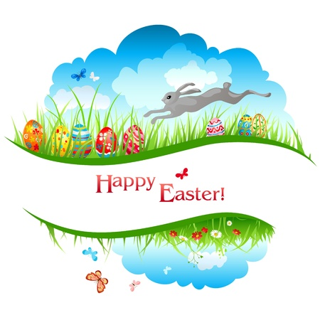 Easter background with space for text Stock Vector - 20544561