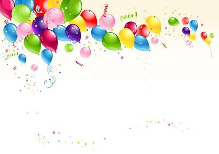 globos de cumpleaños: Fondo festivo de globos Vectores