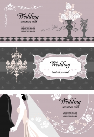 Wedding cards with space for text Stock Vector - 20544582