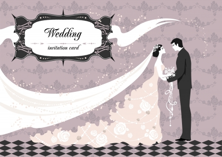Wedding ceremony with space for text   Vector