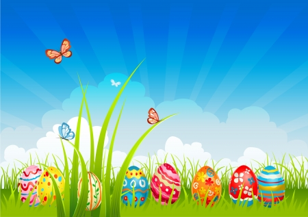 Easter  festive background Vector