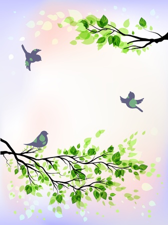 Spring morning  Stock Vector - 20544688