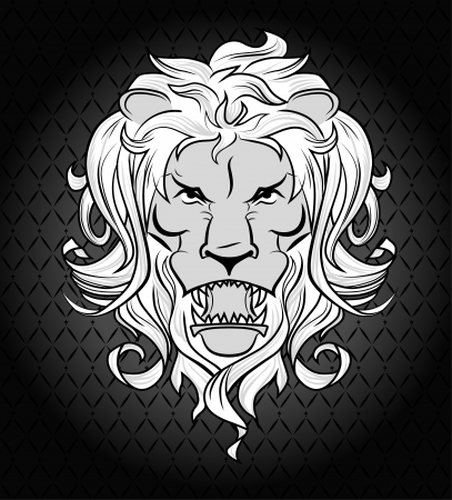 illustration of lion head Illustration