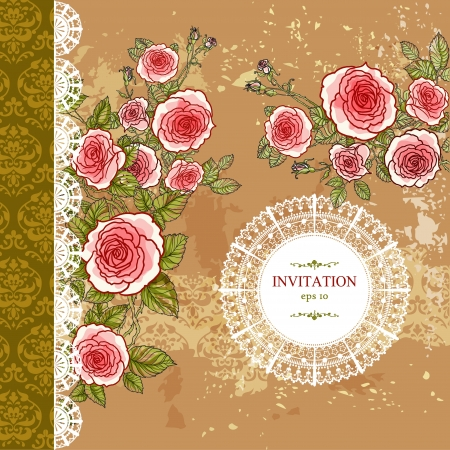 Vintage floral background with copy space Stock Vector - 20544696