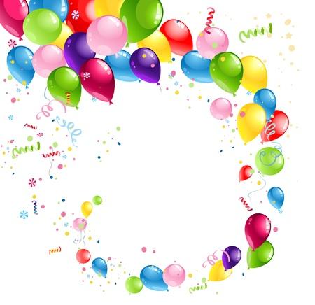 festa: Balões redemoinho com espaço para o texto