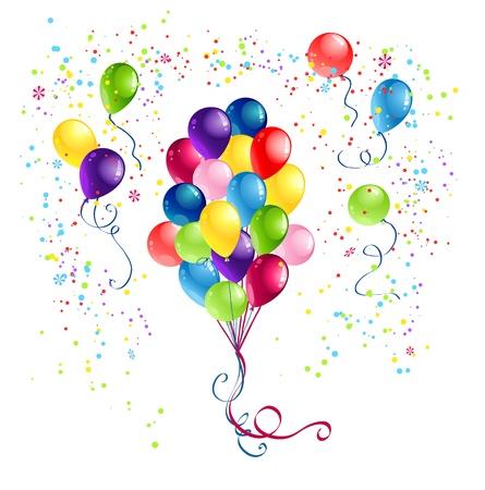 balloon background: Bunch of  festive balloons
