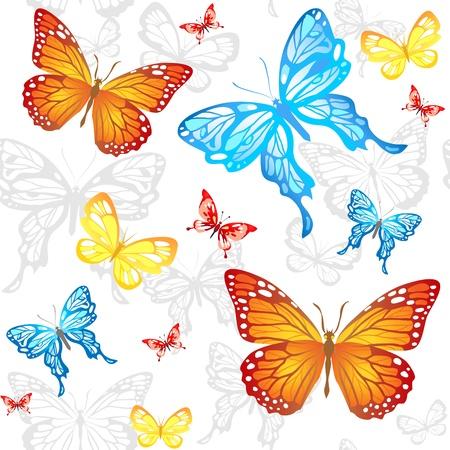 Butterflies seamless pattern Stock Vector - 20544631