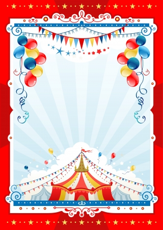 entertainment tent: Circo de fondo con espacio para el texto