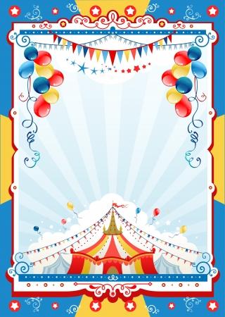 diversion: Cartel del circo con espacio para texto Vectores