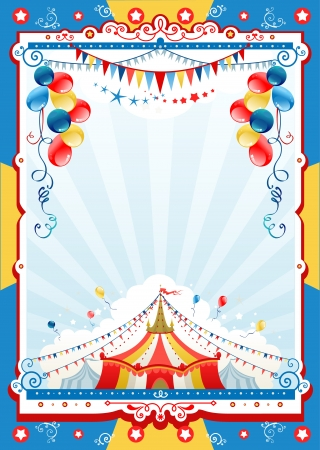 Circus poster with space for text   Çizim