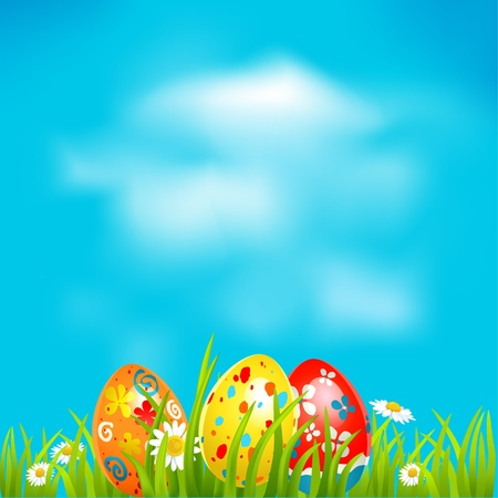 Easter background with space for text Stock Vector - 20544562