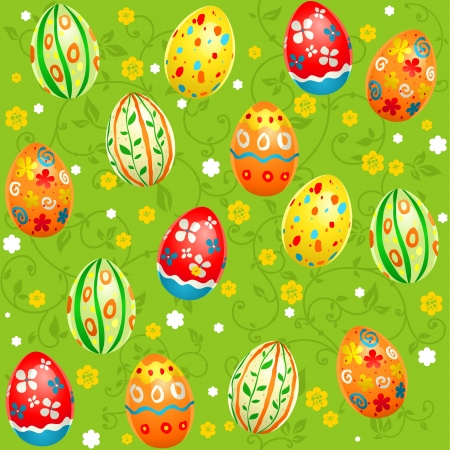 Holiday Easter seamless pattern Vector