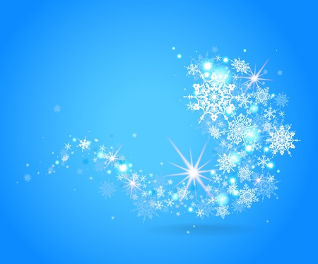Blue snowflakes design with space for text   Vector