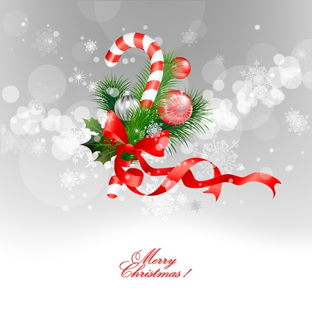 candy cane: Christmas  background Illustration