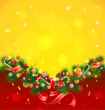 copyspace: Christmas background with fir tree Illustration