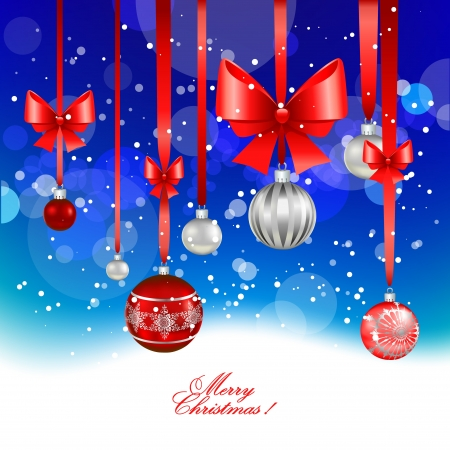 group of christmas baubles: Christmas festive  background