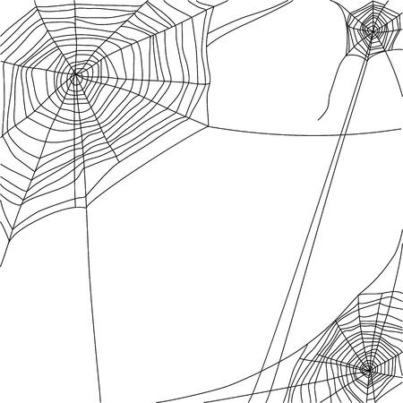 spinnenweb op een witte achtergrond Stock Illustratie