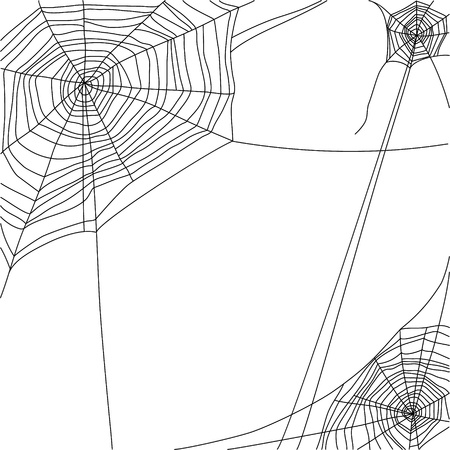 toile d'araignée sur fond blanc Vecteurs
