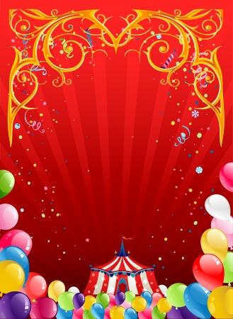 fondo de circo: Fondo de circo festivo con el espacio para el texto