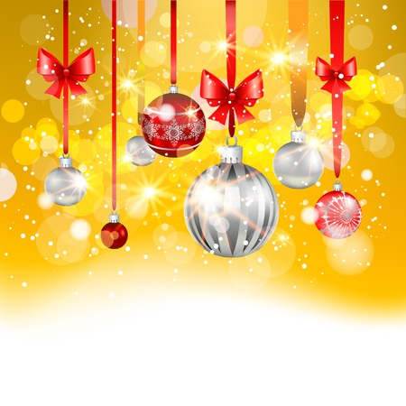 Gold christmas background with space for text   Stock Vector - 20544792
