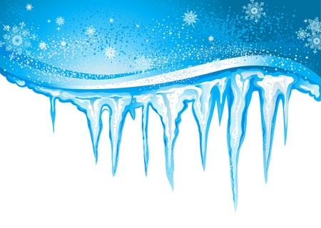 froze: Winter background  with icicles