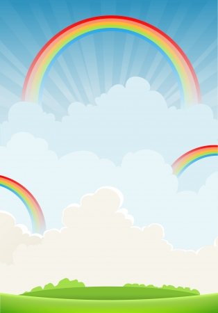 Rainbow background with space for text Vector