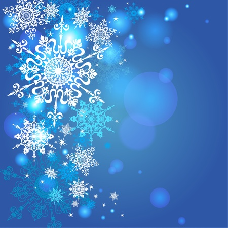 Snowflakes background with space for text Stock Vector - 20544810