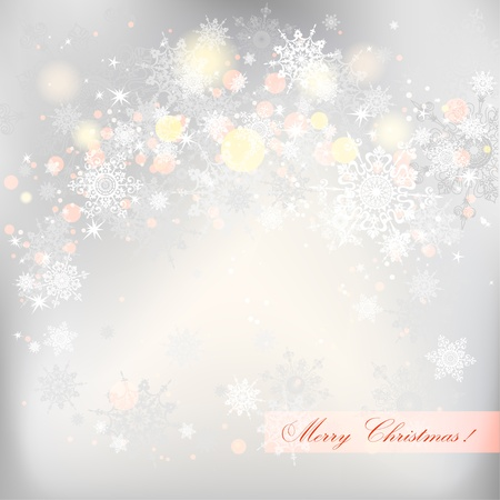 Abstract winter background  with snowflakes Stock Vector - 20544832