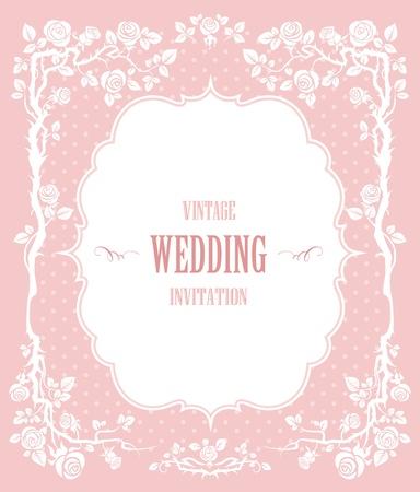 svatba: Elegantní vintage background