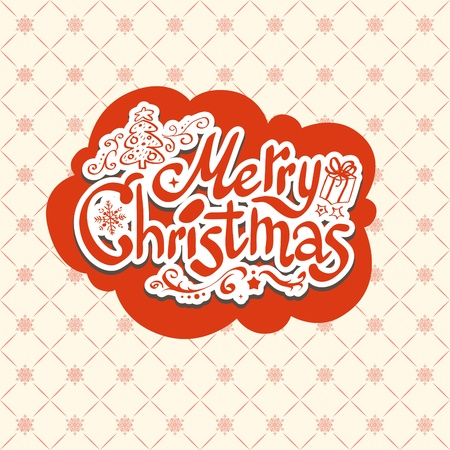 Merry Christmas retro design Stock Vector - 20598698