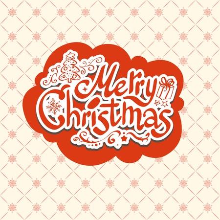 Merry Christmas retro design Stock Vector - 20598698